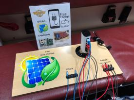 Free Solar Powered Cell Phone Charging Station